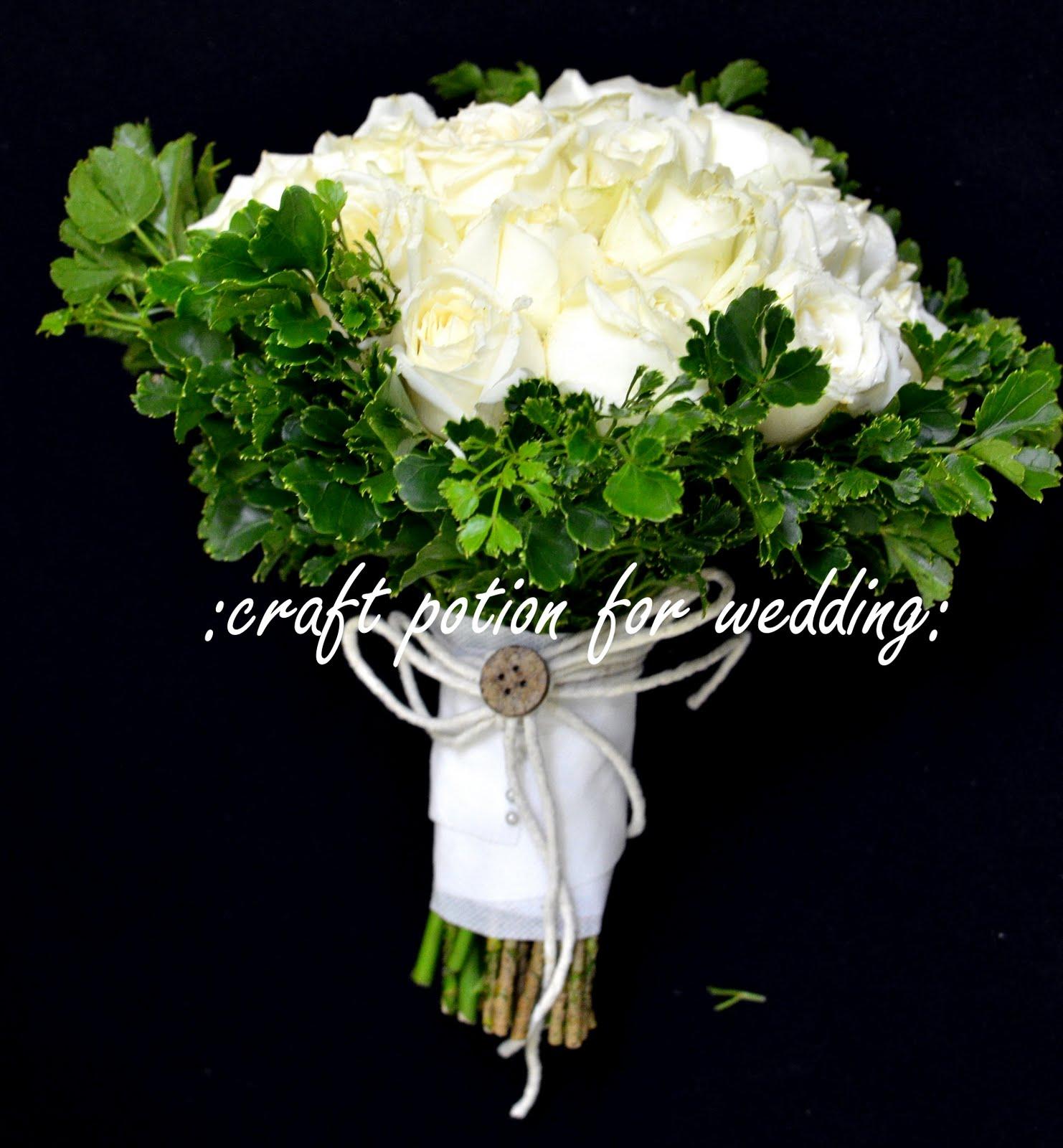 The Craft Potion: Handbouquet (Fresh Flowers) - GardeN Wedding