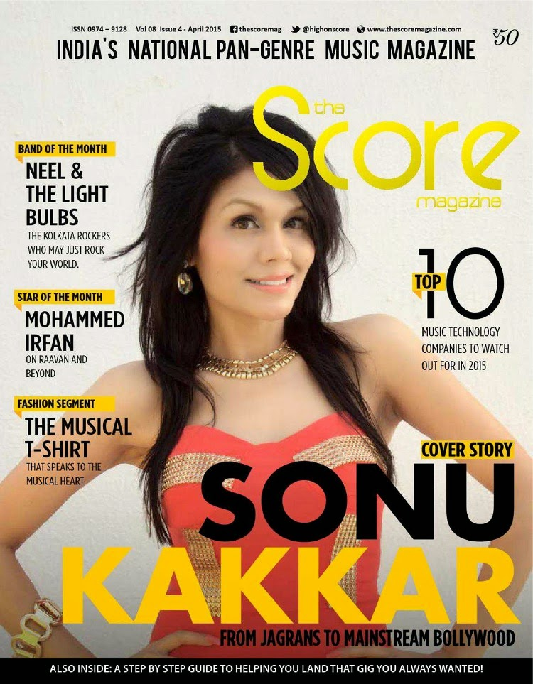 Singer @ Sonu Kakkar - The Score Magazine, April 2015