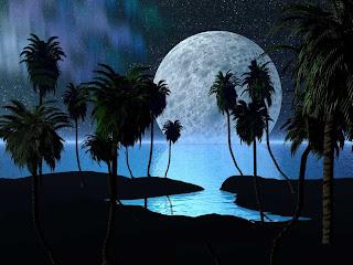 Full moon night , Twilight , Night , Beauty