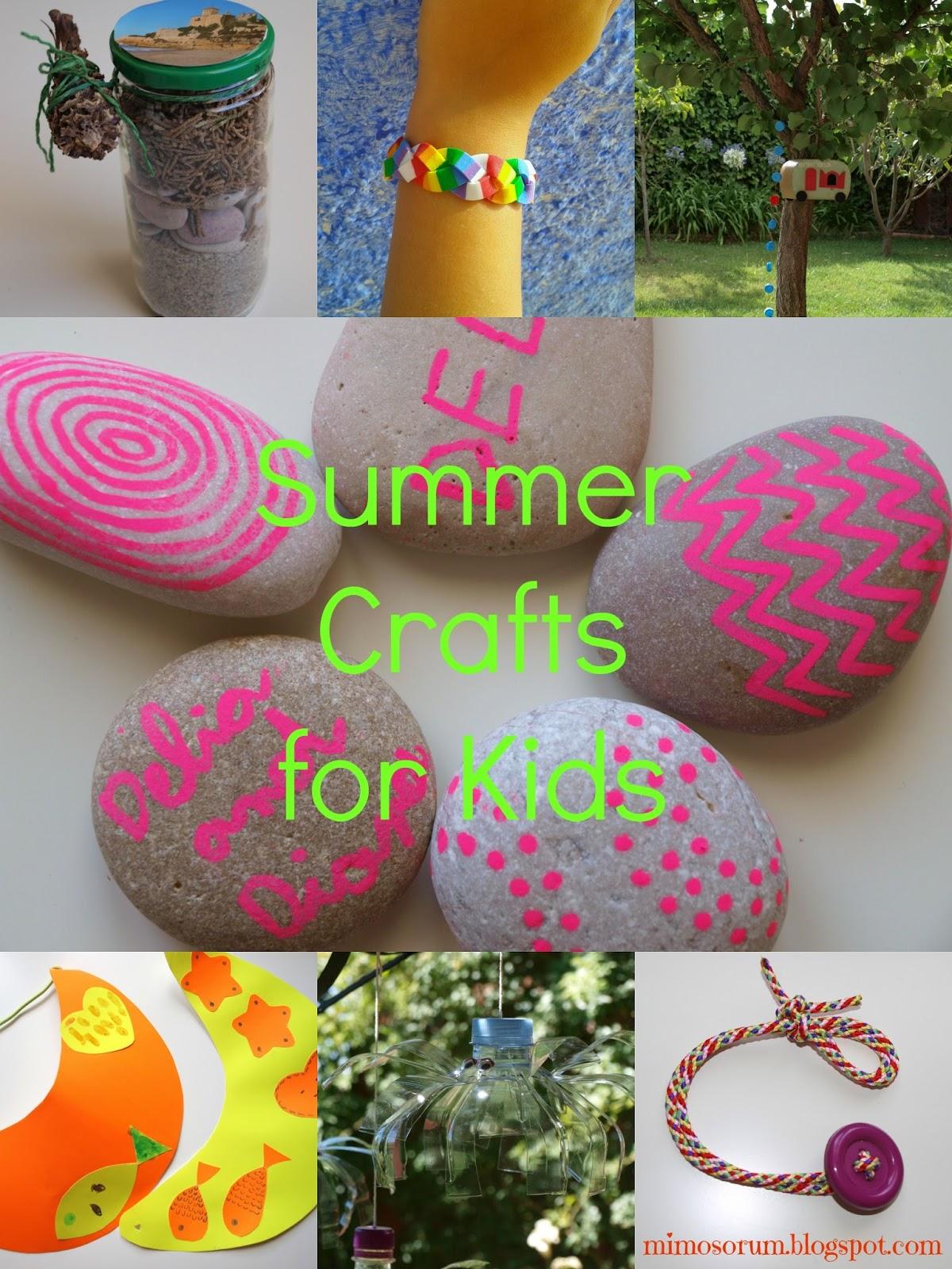 Mimosorum 7 diy para ni os en verano 7 summer crafts for kids - Www manualidades faciles ...