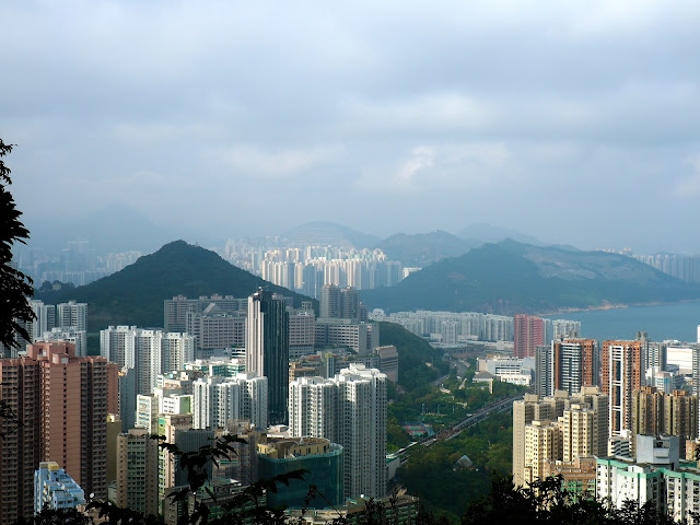 View of Chai Wan skyscrapers from Dragon's Back trail, Hong Kong Island