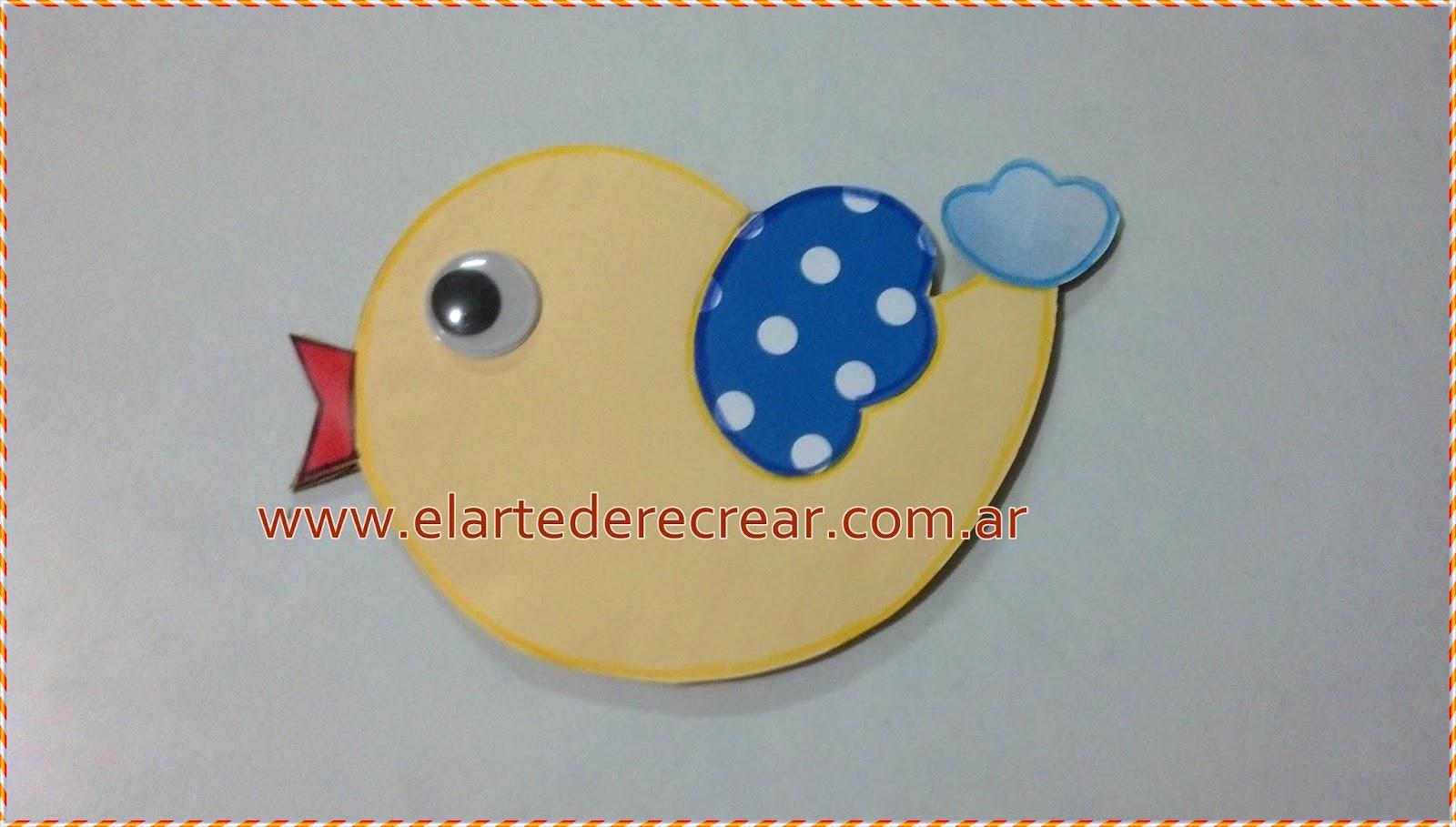 P jaros de cartulina de colores recrear manualidades - Ver como hacer manualidades ...