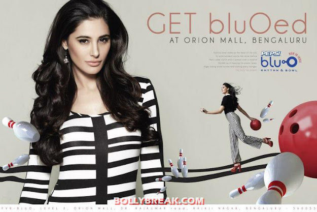 Nargis Fakhri on Print Ad of  Blu O Bengaluru - (2) - Nargis Fakhri Blu O Bengaluru Wallpapers