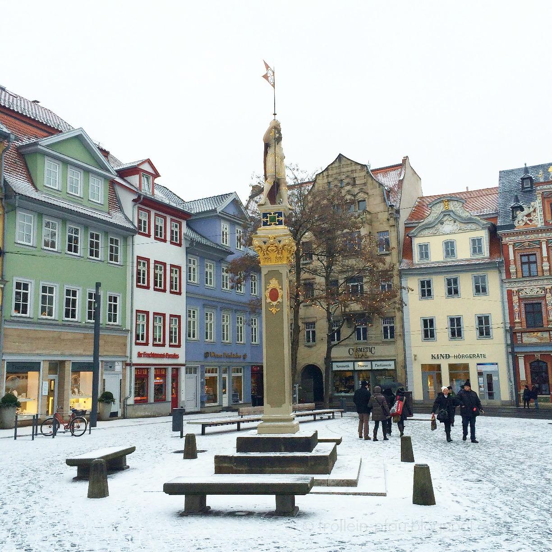 Erfurt, Thüringen, Fischmarkt, Marktplatz, historisch, Altbau, Stadtführung