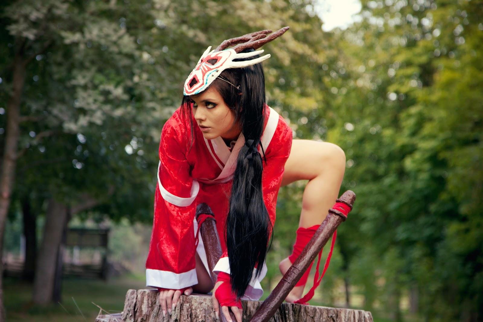 Akali Blood Moon Cosplay ~ Part 1 |CandyAbuse Bloodmoon Akali Costume