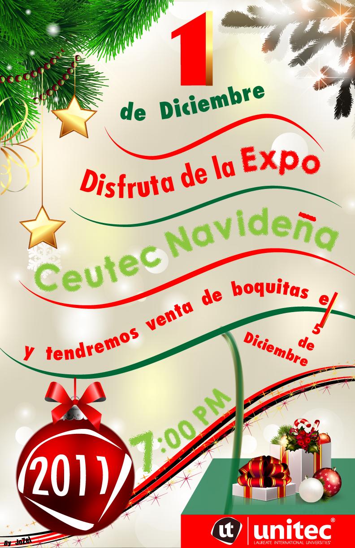 Portafolio Joel Zelaya: Afiche Tipografico de Navidad Ceutec