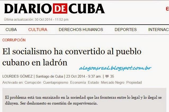O socialismo transformou o povo cubano em ladrão