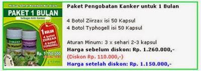 paket obat kanker 1 bulan 4 botol ziirzax ekstrak daun sirsak dan 4 botol typhogell ekstrak keladi tikus paket pengobatan kanker untuk satu minggu dari de nature indonesia