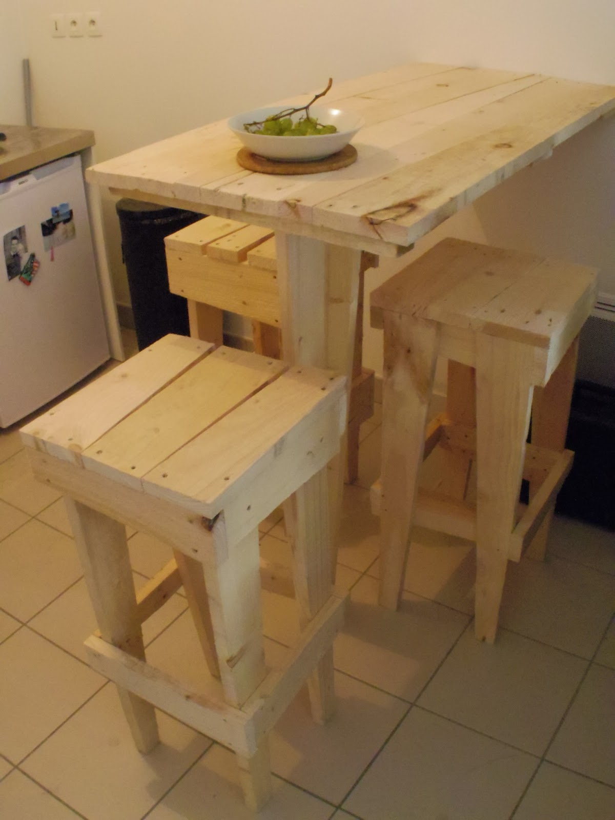 Table de bar en palette - Fabriquer une table haute ...