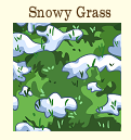 Grass land with patches of snow