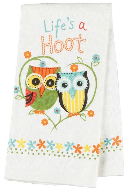 Owl Towel Cotton Terry-Life's A Hoot!