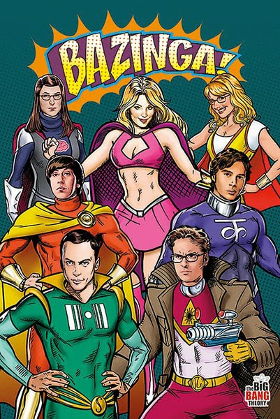 Posttter The Big Bang Theory Superhéroes