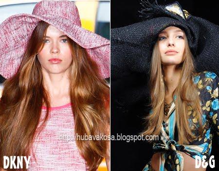 Кестенява коса Тенденции Пролет/Лято 2012