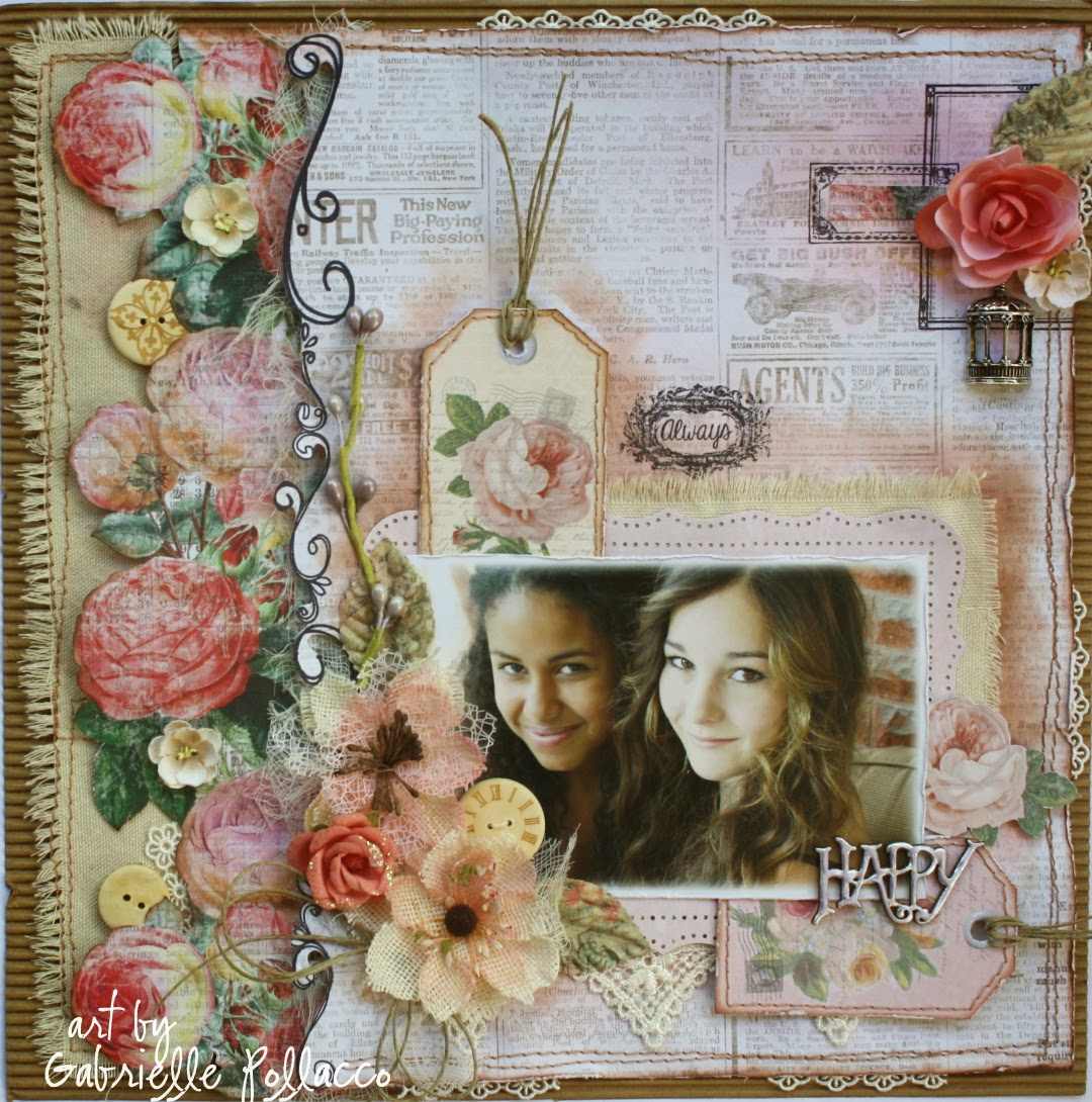 Vintage style scrapbook ideas - Guest Designer For Flying Unicorn Layouts Cards