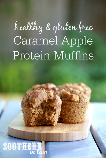 Healthy Caramel Apple Protein Muffins  low fat, gluten free, healthy, high protein, refined sugar free, clean eating friendly, protein powder recipes