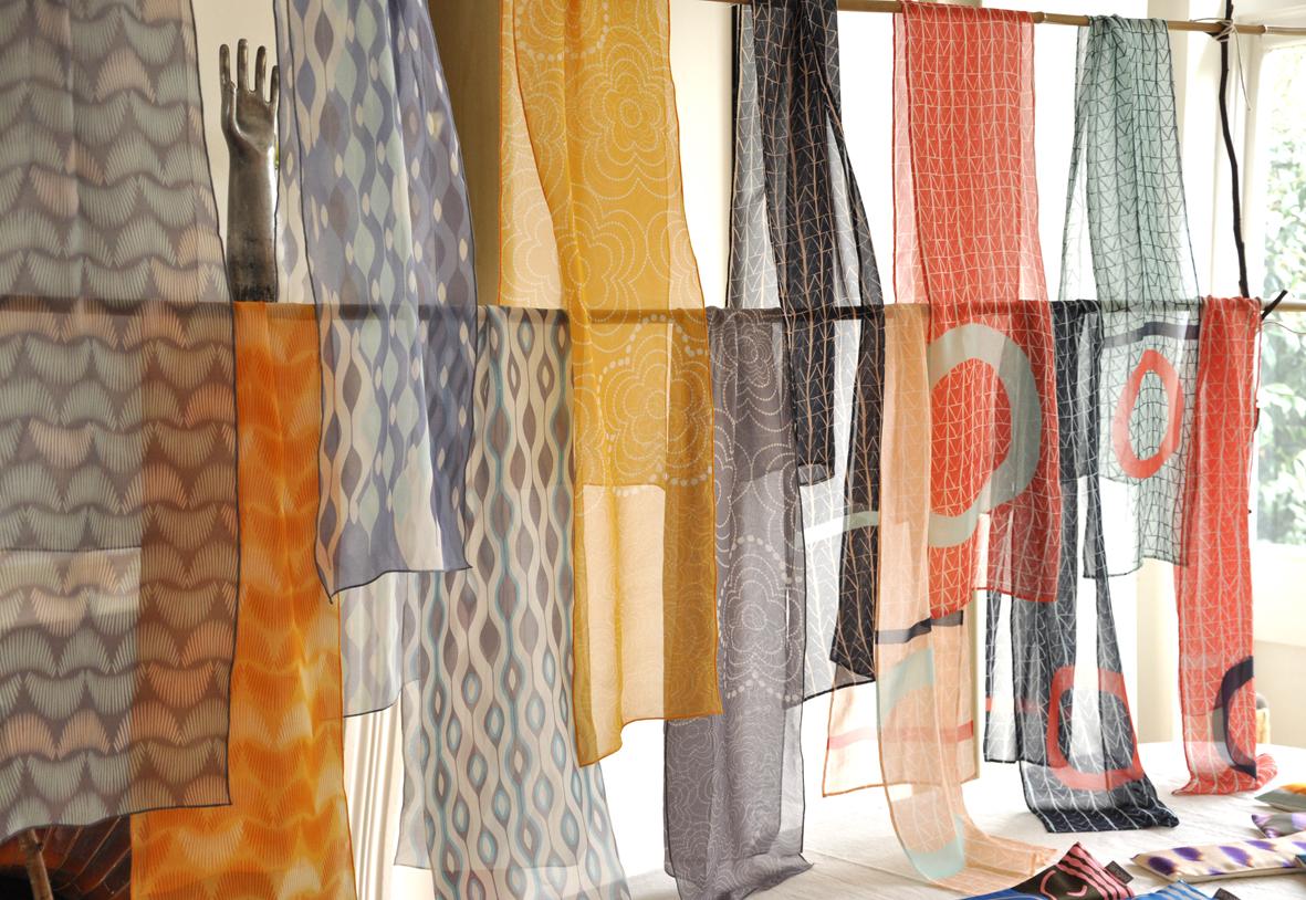 silk georgette scarves