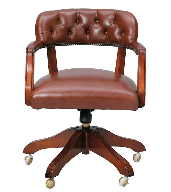 Laura ashley franklin leather office chair - Laura ashley office chair ...