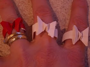 Waste Paper Butterfly rings