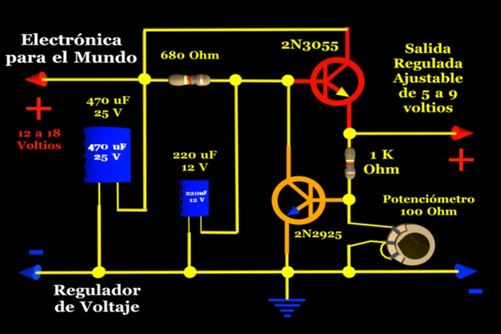Circuito Regulador De Voltaje : Electrónica para el mundo regulador de voltaje