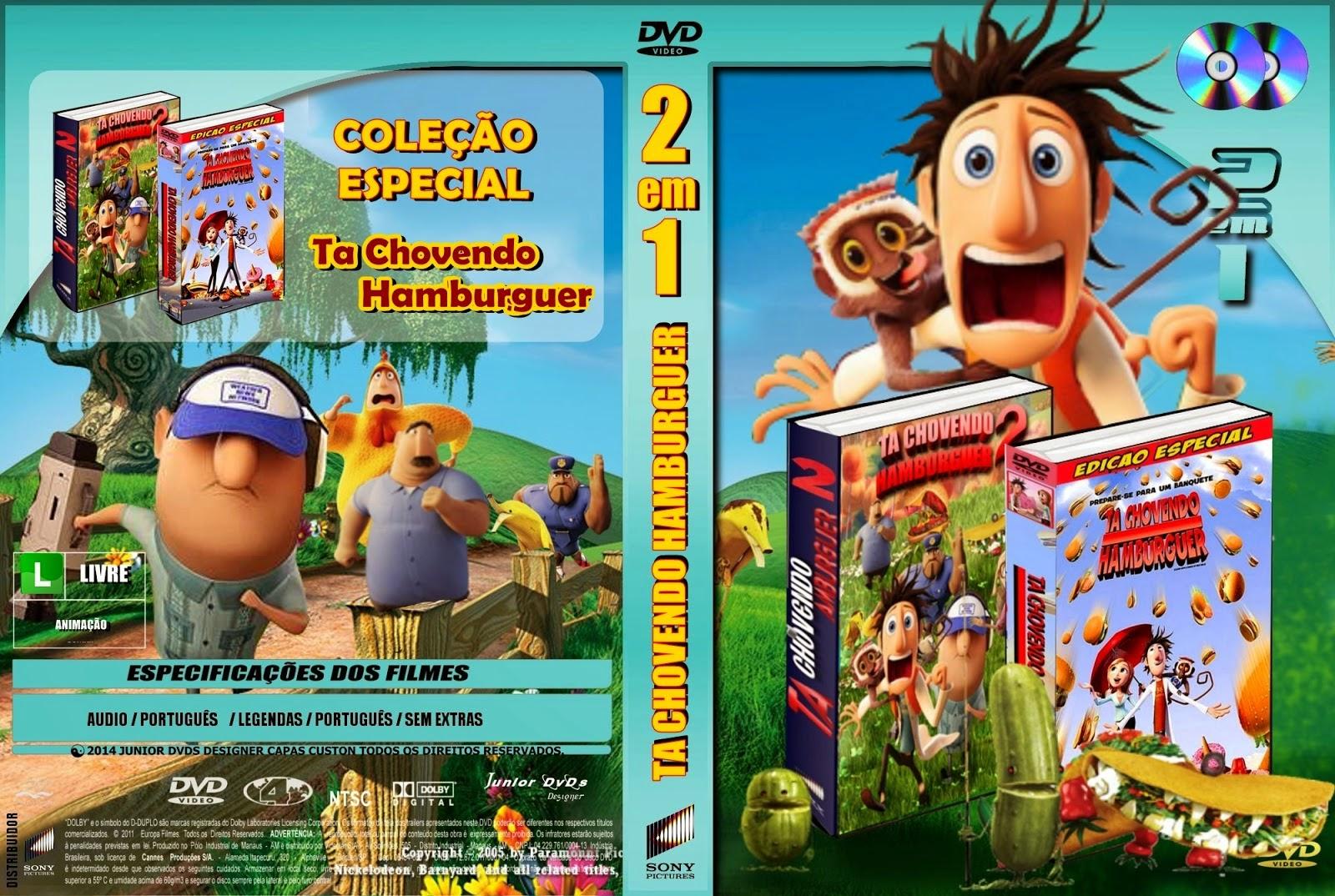 Filme Ta Chovendo Hamburguer Dublado Completo throughout capas filmes animação