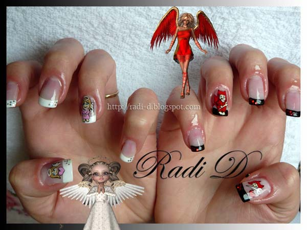 Its all about nails angel vs devil devil nail art prinsesfo Choice Image
