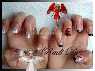 Angel VS. Devil nail art