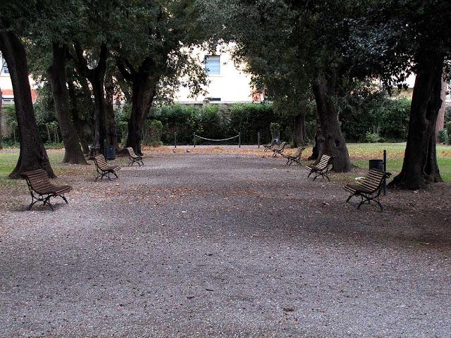Benches, park of Villa Fabbricotti, Livorno