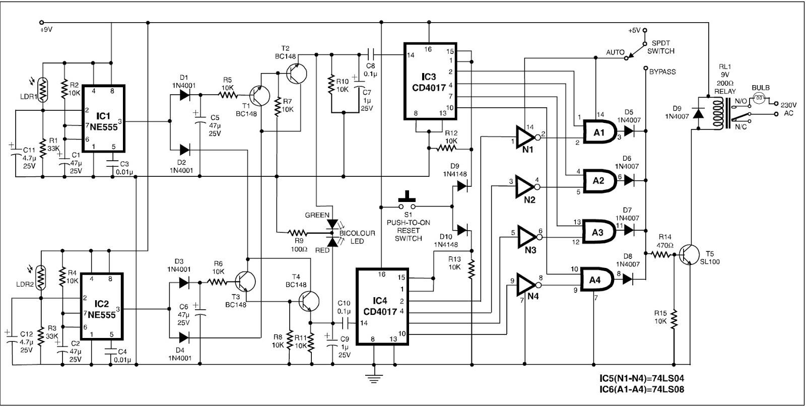 Million Circuits Auto Shut Off Tone Generator Circuit Automatic Room Power Control