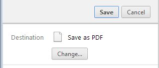 Save as PDF in Chrome