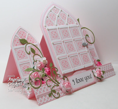 ODBD Cathedral Window and Border Dies, ODBD Cathedral Window - Marble, Mini Tags 1, Designer Angie Crockett