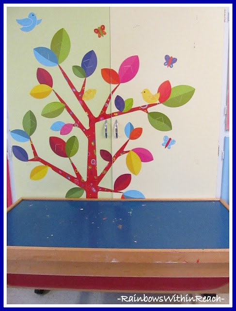 photo of: Decorated Storage in Preschool via RainbowsWithinReach