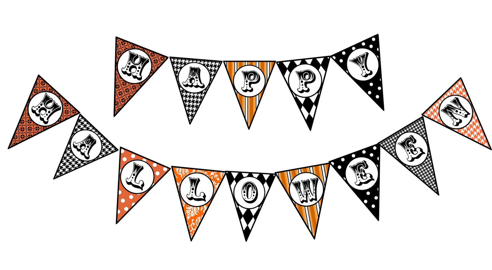 It is a picture of Amazing Happy Halloween Banner Printable