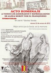 Acto homenaje a todos los asesinados y represaliados de Aldea Moret por el franquismo