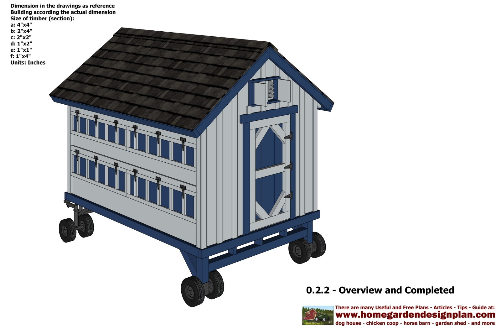 Free Chicken Coop On Wheels Plans Tanto Nyam