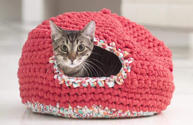 Bien-aimé Tuto crochet facile : Et si on se faisait un petit igloo à chat  VX54
