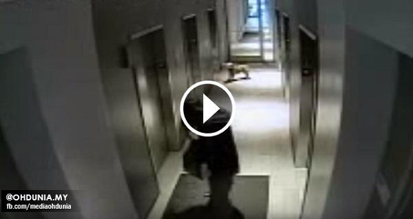 Kejadian Memilukan Berlaku di Lif Yang Dirakam Oleh Kamera CCTV
