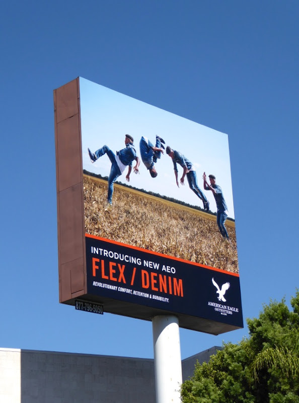 American Eagle Outfitters Flex/Denim somersault billboard