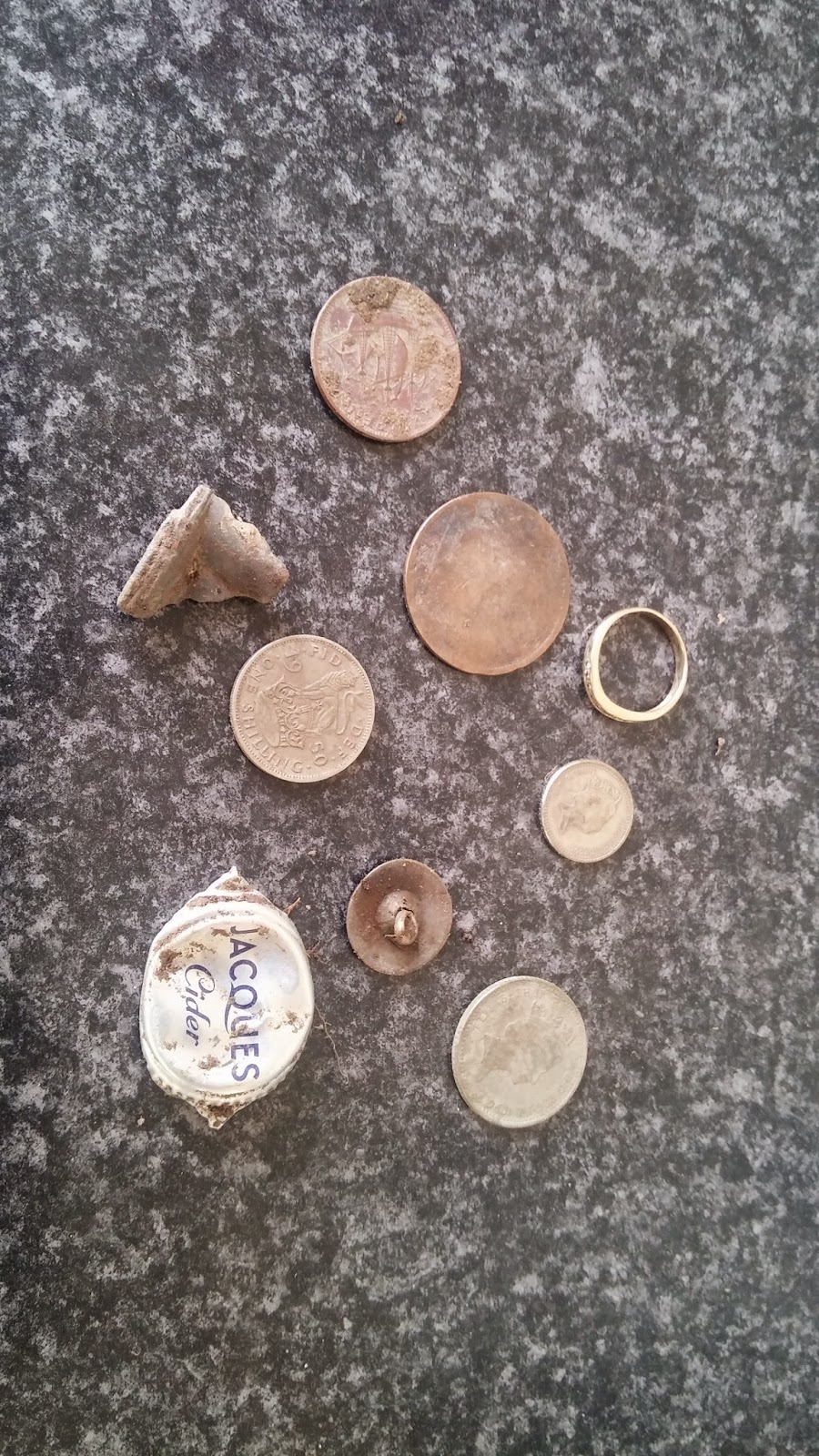a picture of some of my metal detecting finds