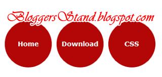 Circle Style CSS Navigation Menu Bar