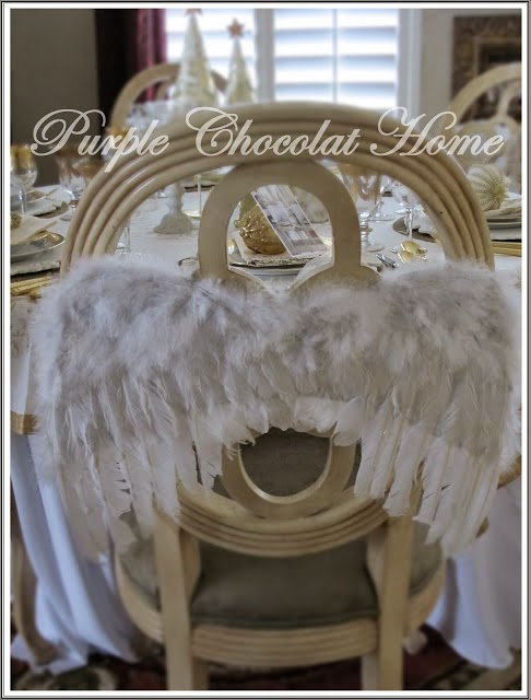 Angel Wings Tablescape