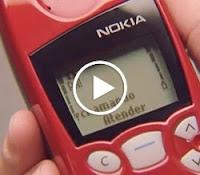 Propaganda antiga do Nokia 5100 com Rubens Barrichello.