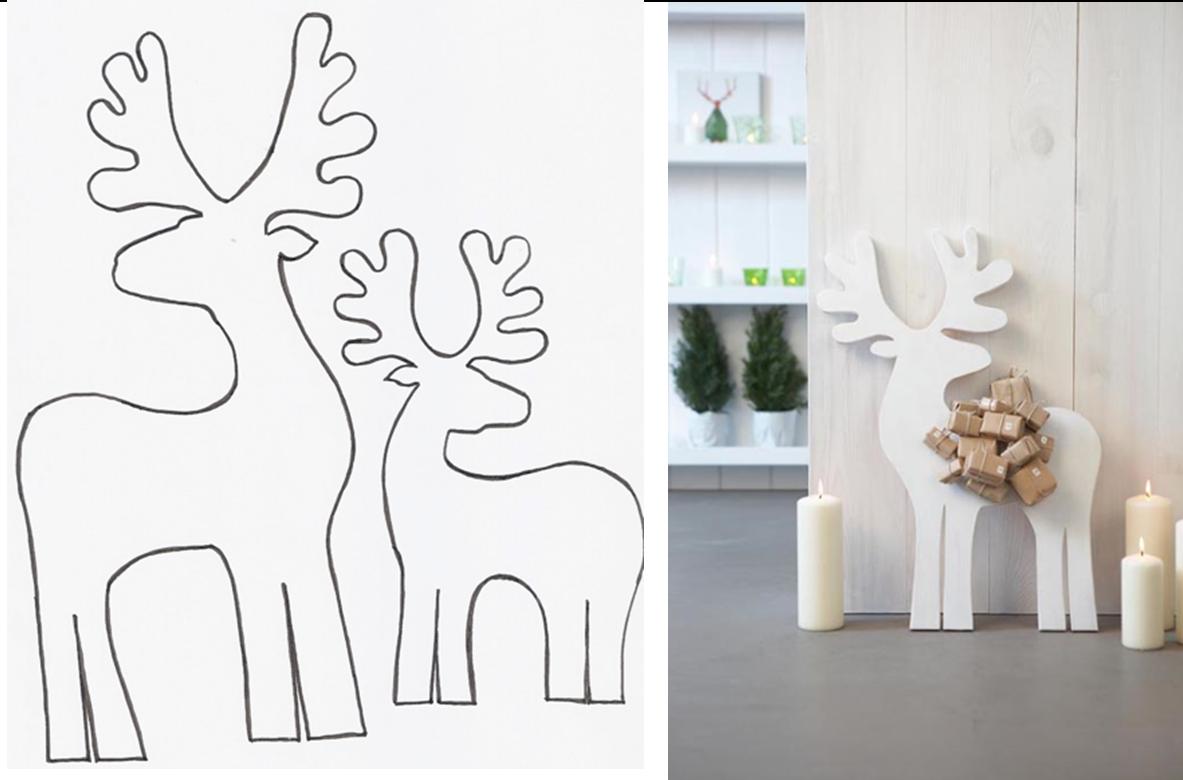 Decoraci n f cil diy renos para navidad for Trineo madera decoracion