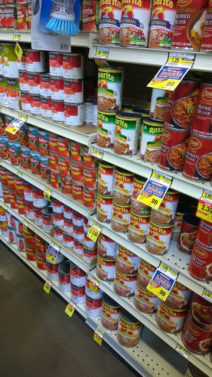 canned food aisle