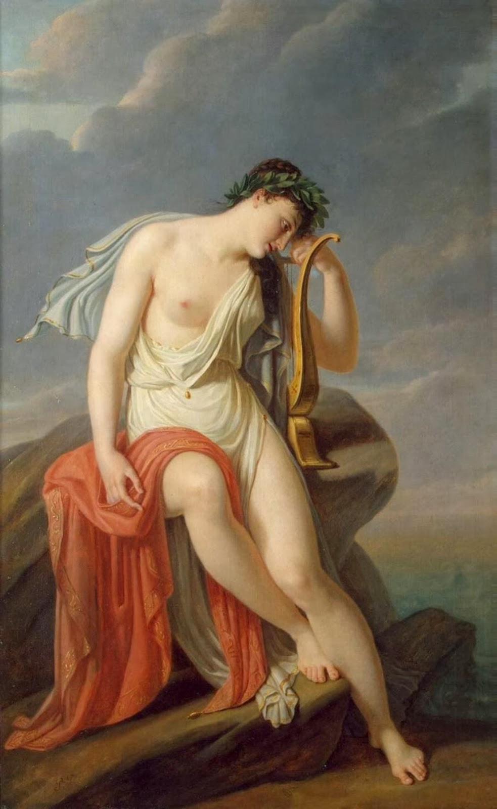 Pierre-Narcisse Guérin - Sappho On The Leucadian Cliff
