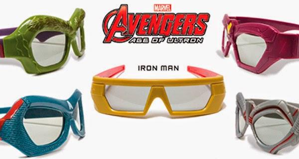 Gafas 3D de Los Vengadores: La Era de Ultron