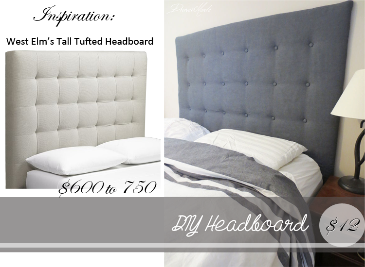 Tall Tufted Headboard DIY How To
