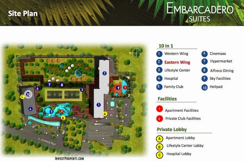 Site plan apartemen embarcadero bintaro embarcadero for Apartment plans for 60x40 site
