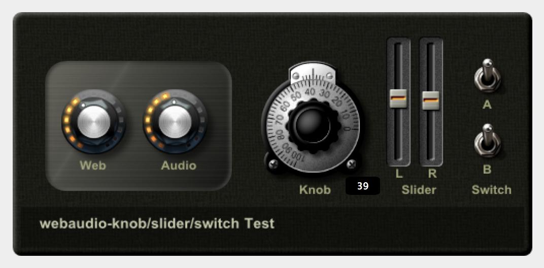 audioコンポーネントの例
