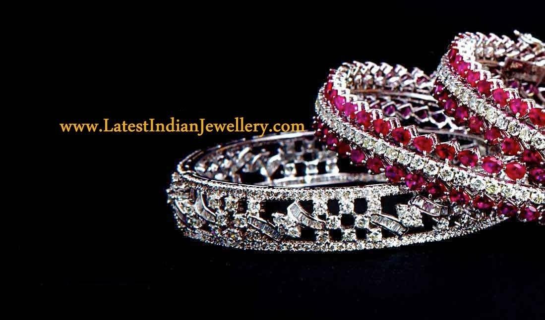 Latest Diamond Bangles Collection
