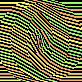 casino art op art of the letter O psychedelic Font